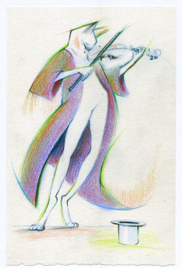 r/Art - Musician, me, coloured pencils, 2020