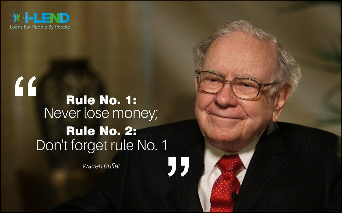 "i-lend on Twitter: ""#MorningMotivation Quote of the Day ""Rule No. 1: Never  lose money, Rule No. 2: Don't forget rule No. 1""… """