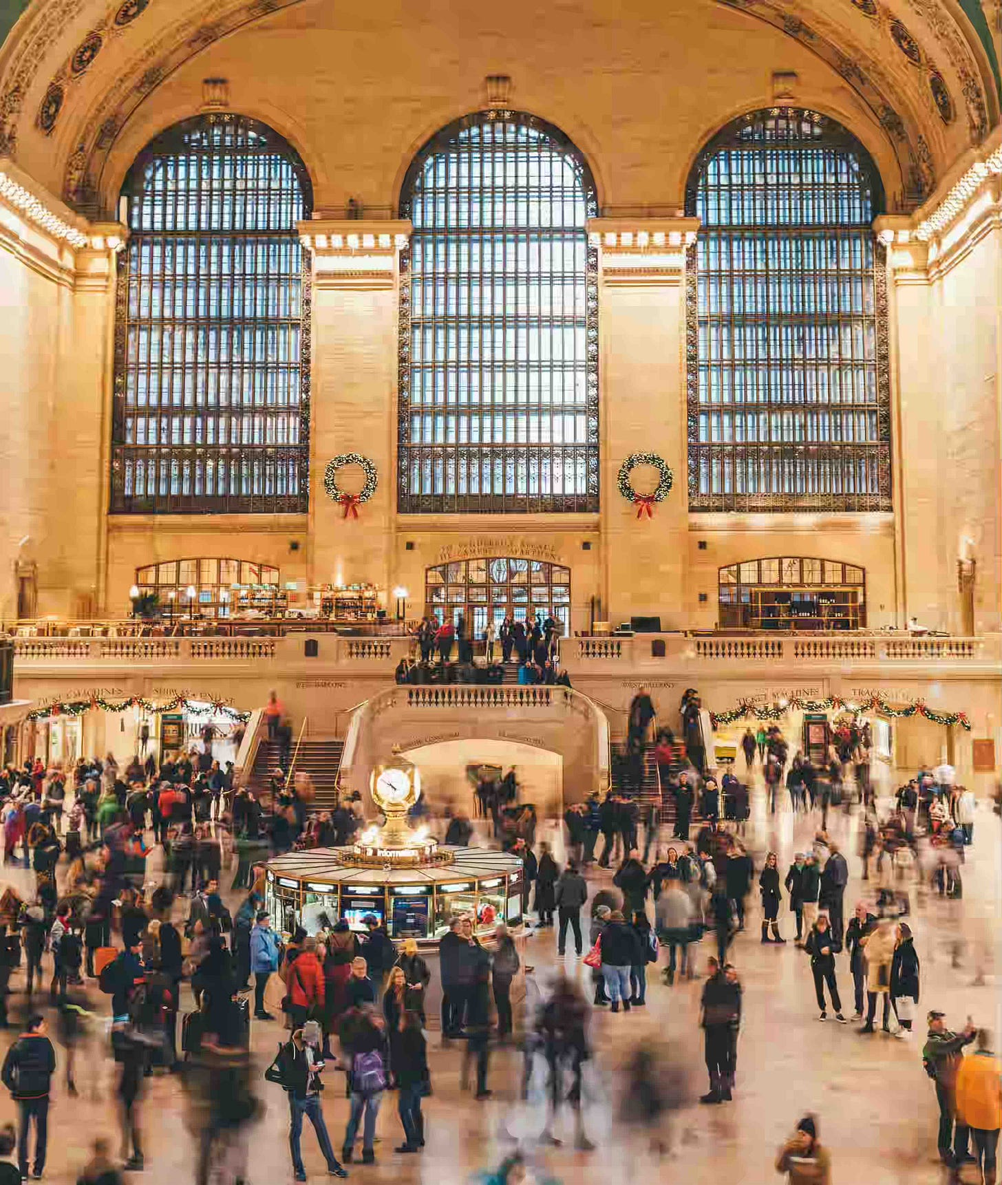A busy day in grand central station, New York to explain an example about photo lock and photo security.