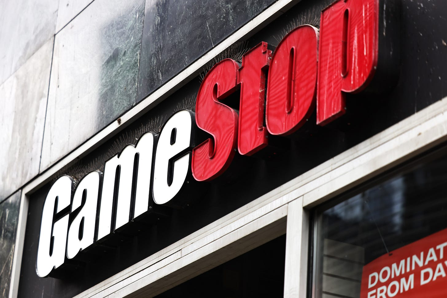 Exterior of a GameStop. Its price has been manipulated by Redditors Michael M. Santiago/Getty Images