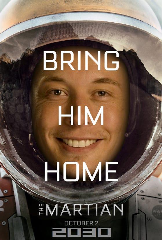 Elon 2030 - The Martian poster : elonmusk