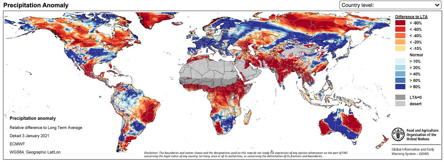 Precipitation Anomaly Map
