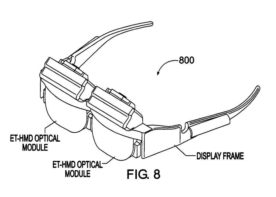 An image of a headset designed like eyeglasses.