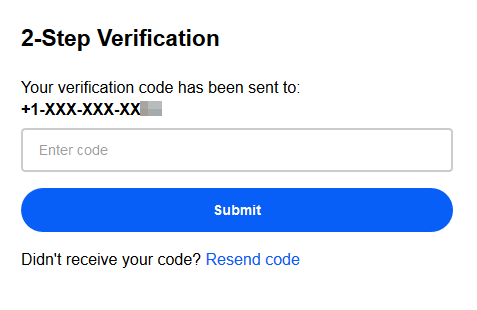 SMS - 2 Factor Authentication