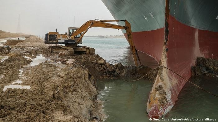 Más de 230 barcos a la espera de poder atravesar el canal de Suez   El  Mundo   DW   26.03.2021
