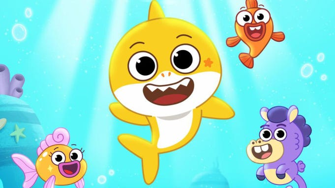 Baby Shark animated series on Nickelodeon