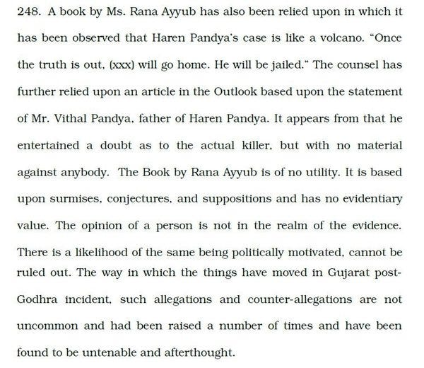 Excerpt of the SC order on Haren Pandya