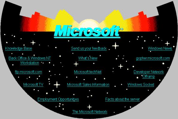Original Microsoft.com WWW site facsimile created in 2014