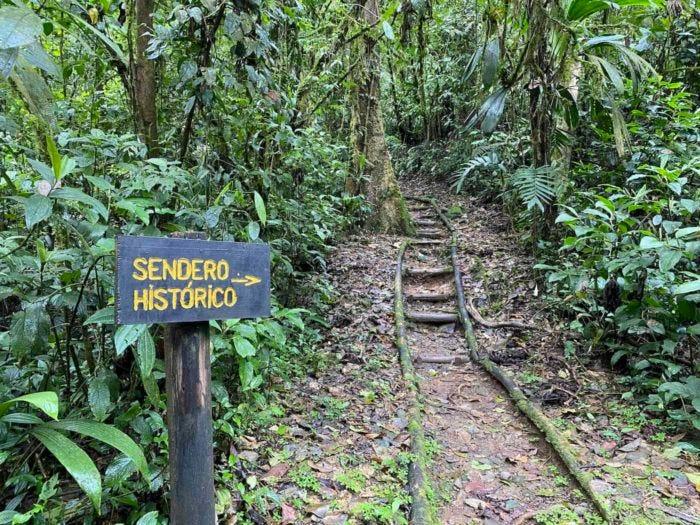 One of several trails at La Marta near Turrialba, Costa Rica.