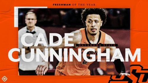 Oklahoma State's Cade Cunningham is Sporting News' Freshman of the Year    Sporting News