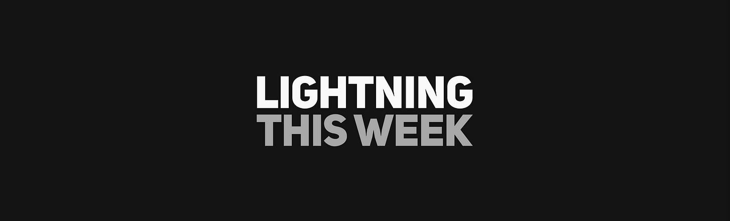 Lightning This Week — powered by ZEBEDEE