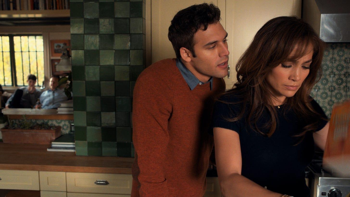Ryan Guzman menaces Jennifer Lopez in The Boy Next Door
