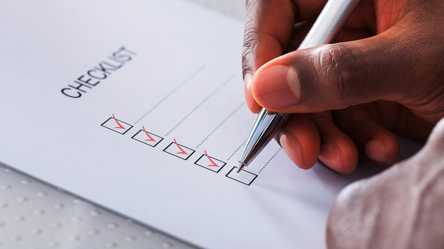 Quick Interviewer's Review Checklist - Fortify Experts