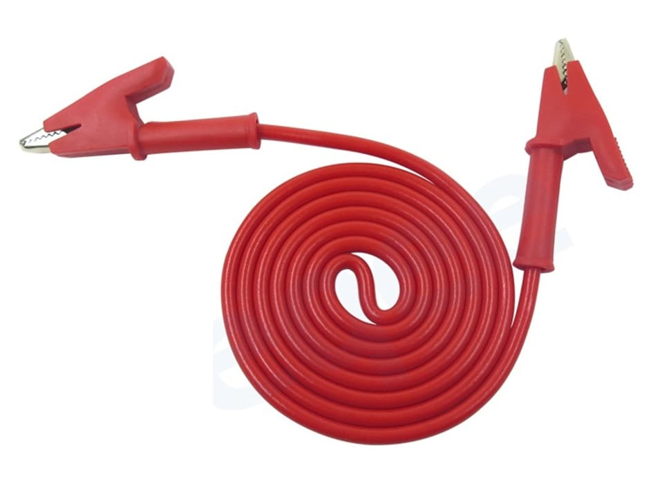 P1024 5 Colours 100CM 15A Double-ended Clips Cable Alligator Testing Probe Lead