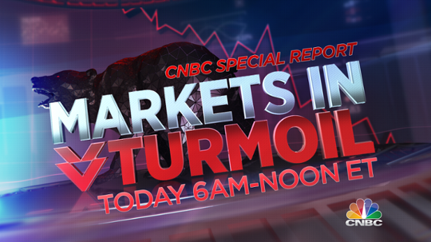 """CNBC on Twitter: """"Now on @CNBC: """"Markets In Turmoil"""", live from CNBC HQ, w/  complete global market coverage & what it means for you.  https://t.co/OjRvXrLLov"""""""