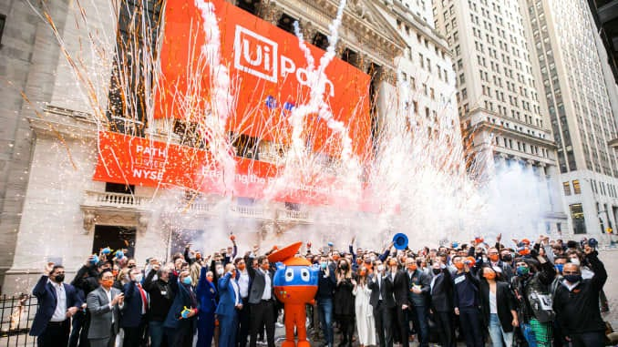 UiPath at company's IPO at the New York Stock Exchange.