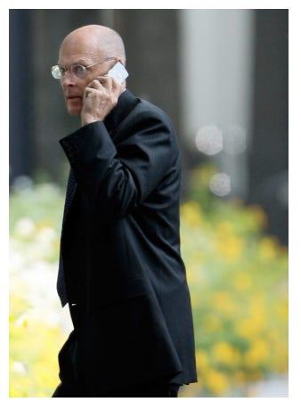 (Sept 17) Treasury Secretary Henry Paulson walking after meeting with President George W. Bush
