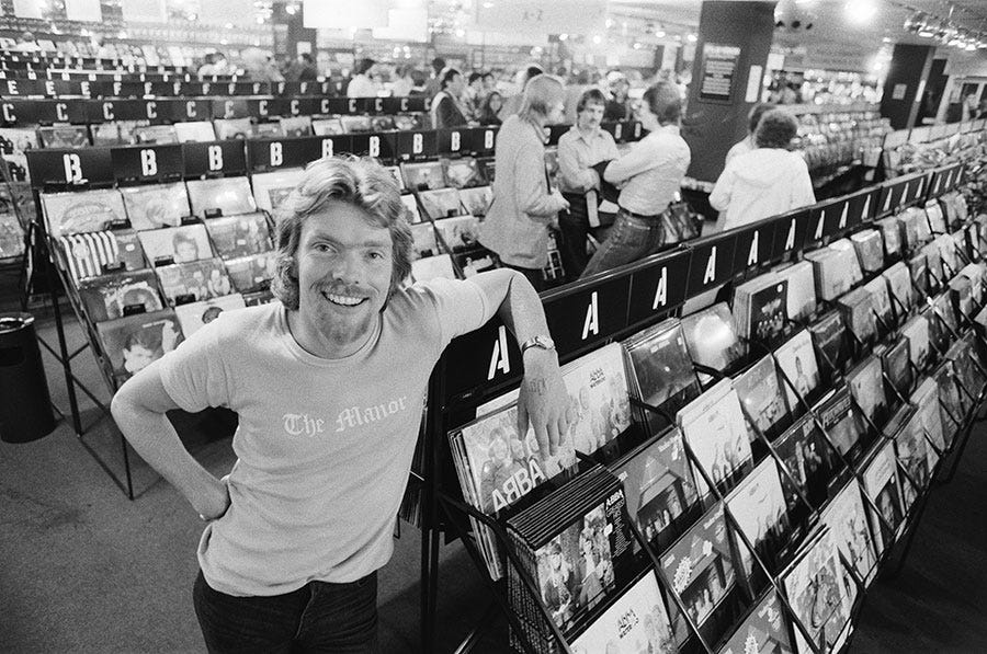 Richard inside a record store