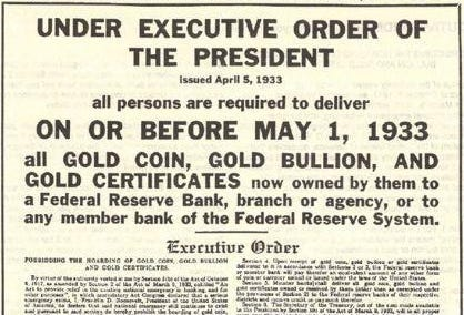 Learn the Facts About Gold Confiscation | U.S. Gold Bureau