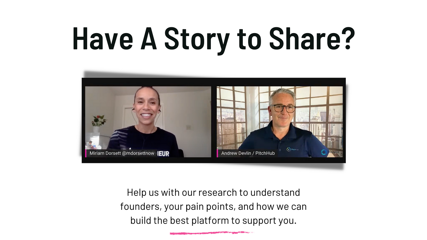 Have a story to share? Schedule a video interview by clicking here.