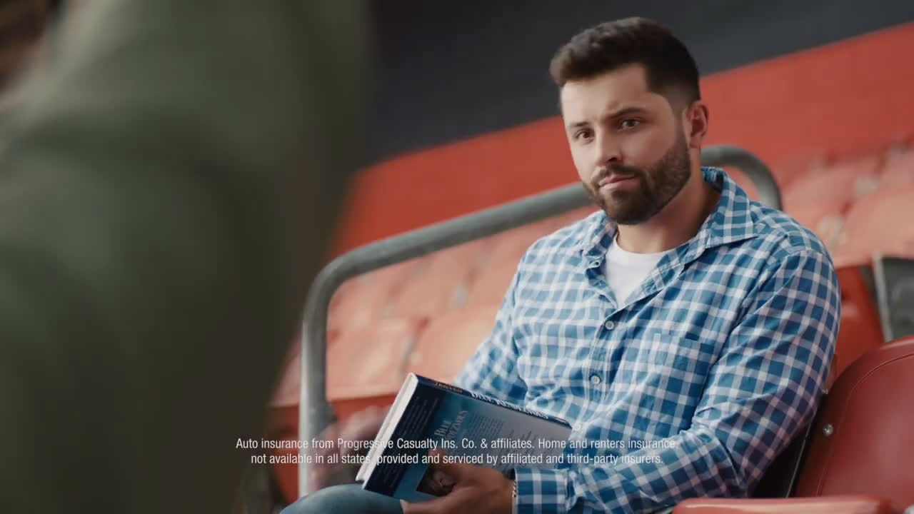 ▷ Progressive Baker Mayfield Joins a Book Club Ad Commercial on TV 2020