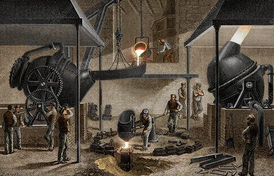Bessemer Process Steelworks - Stock Image - C050/1032 - Science Photo  Library