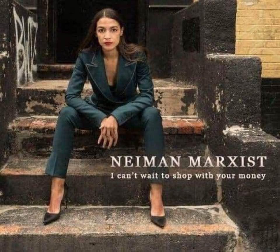 May be an image of 1 person, footwear and text that says 'NEIMAN MARXIST I can't wait to shop with your money'