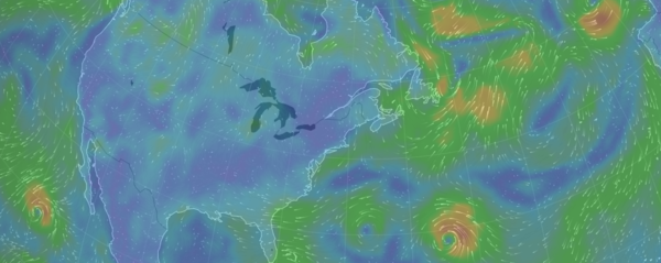 An absolutely gorgeous interactive visualization of wind.