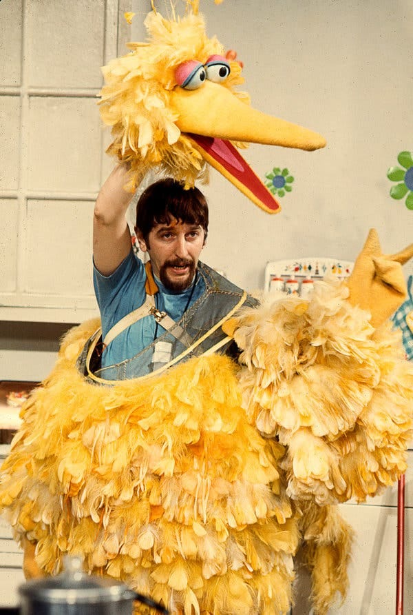 Mr. Spinney as Big Bird in the early 1970s.
