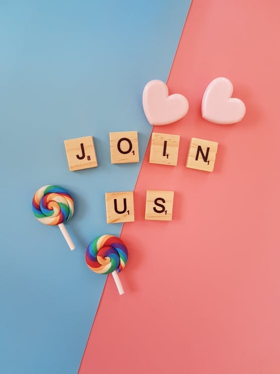 Join Us Scrabbles Letters