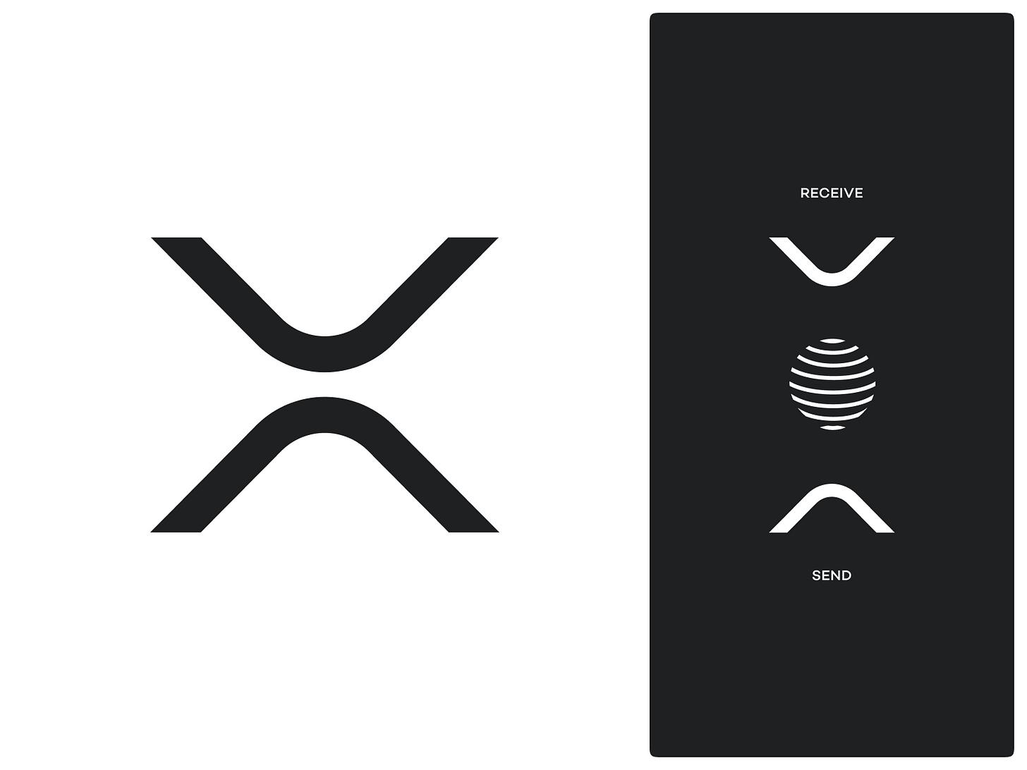 XRP Symbol xrp ripple bitcoin crypto identity branding logo icon