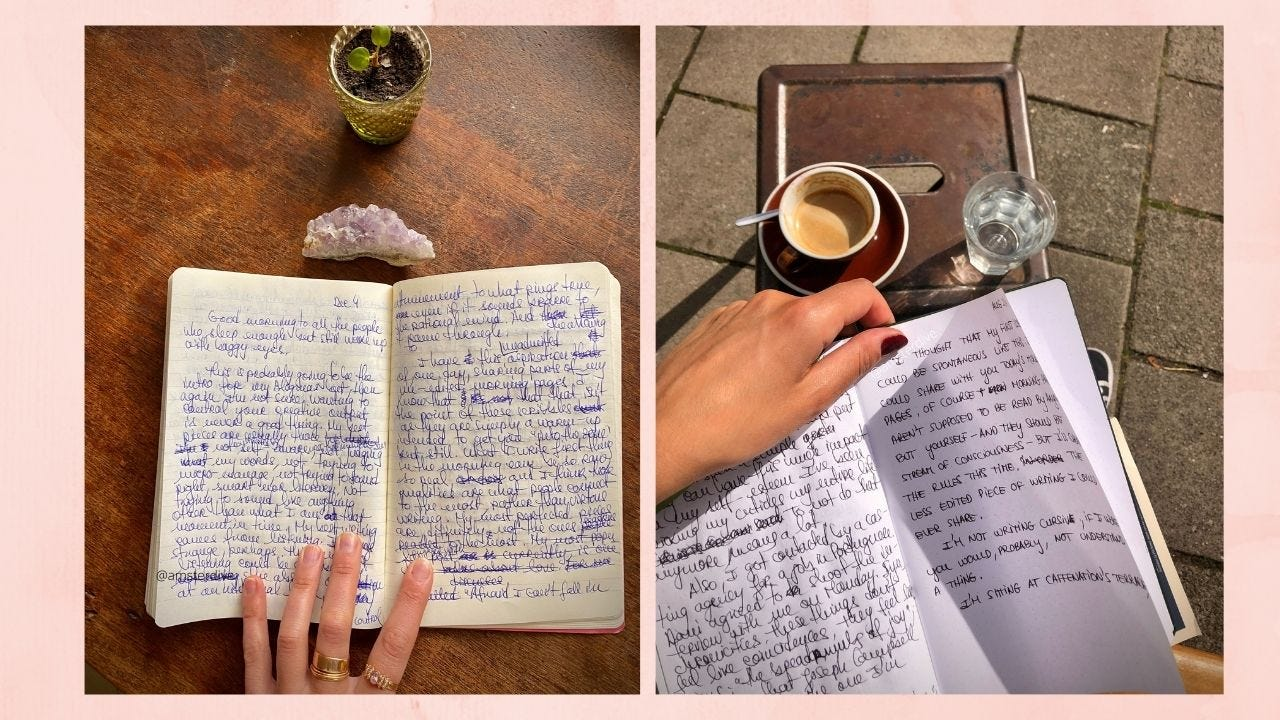 Morning Pages: unblocking myself