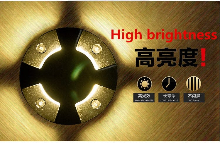 Free Shipping 3W LED Underground Light 3x1W LED outdoor lighting Buried lamps ,Warm white Cool white RGB AC85-265V