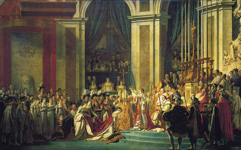 Discussion of The Coronation of Napoleon by Jacques-Louis David