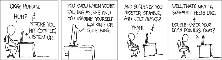 xkcd: Compiler Complaint