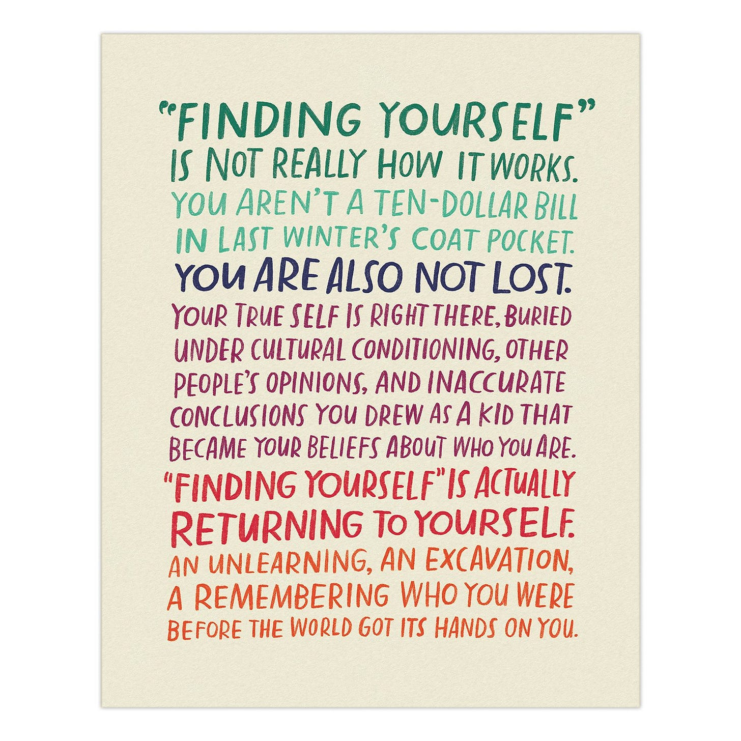 Finding Yourself Art Print | Emily McDowell & Friends