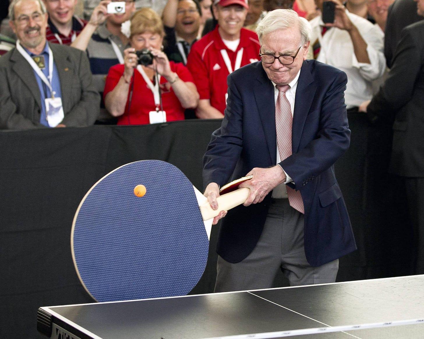 Ping Pong Level: Warren Buffett: funny