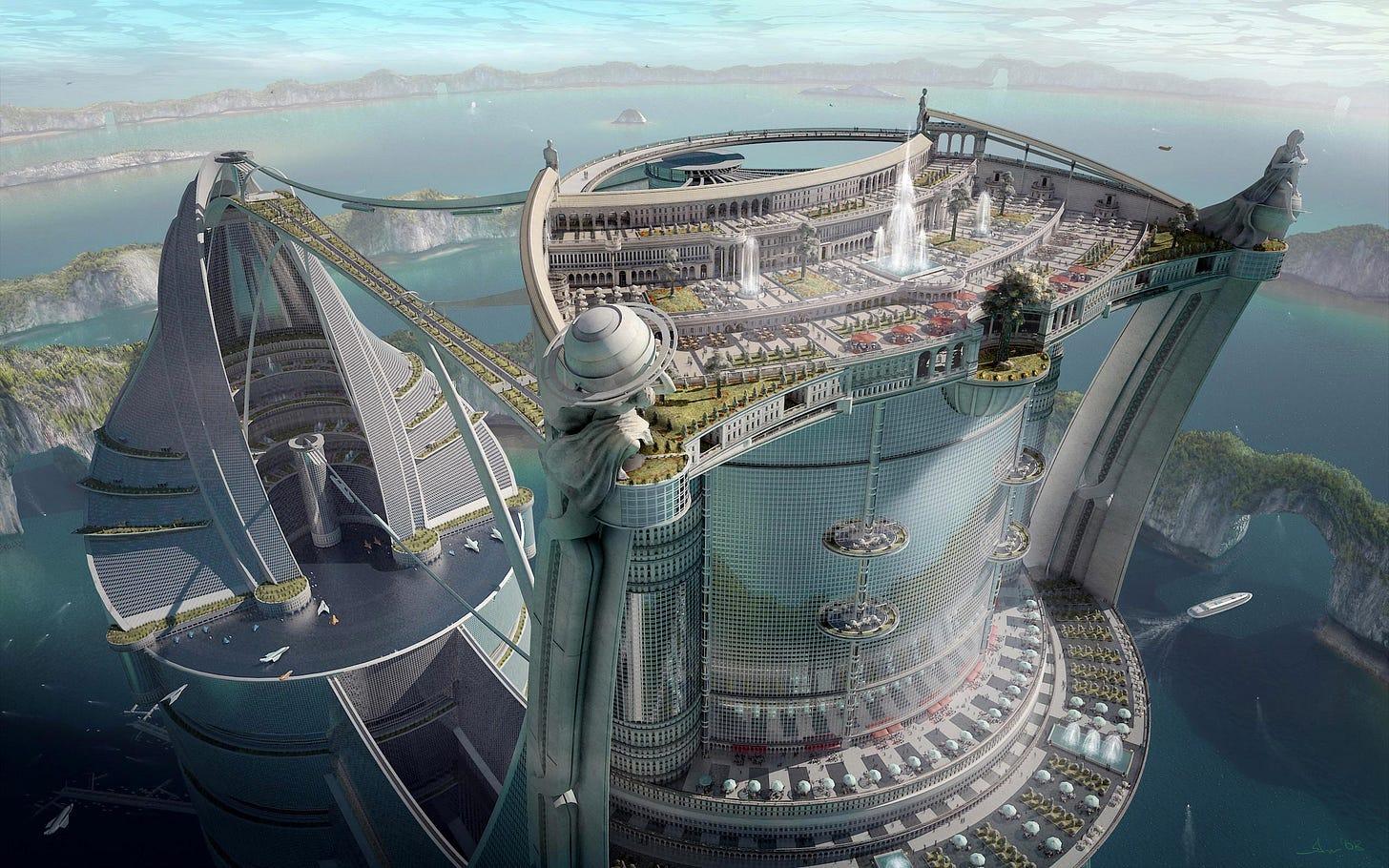 Image result for futuristic world