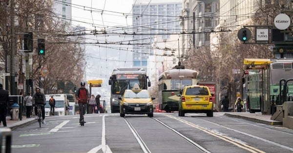 Early results from car-free Market Street.