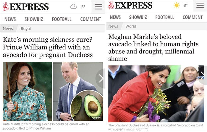 15 Headlines Show How Differently The British Press Treat Meghan Markle Vs  Kate Middleton | Bored Panda