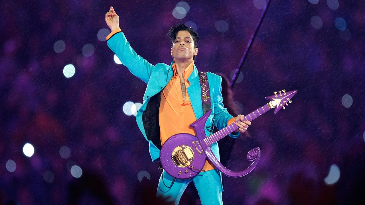 Prince at the Super Bowl XLI halftime show