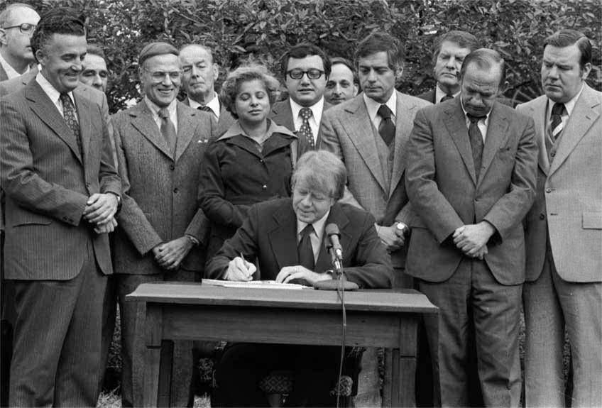 President Jimmy Carter signed the Community Reinvestment Act on October 12, 1977.