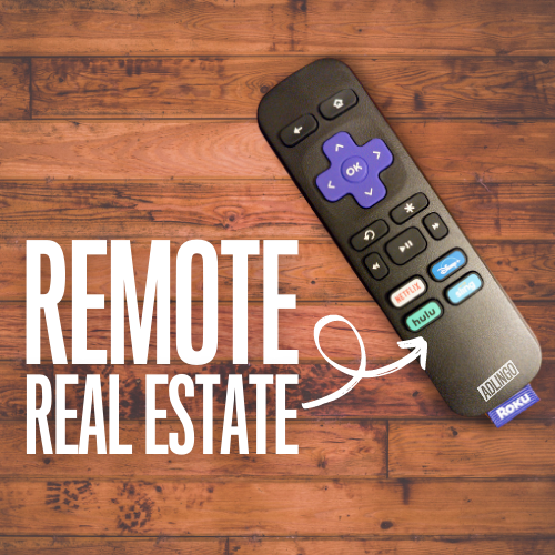 Roku remote control highlighting the branded buttons for Netflix, Hulu, Disney+ and Sling.