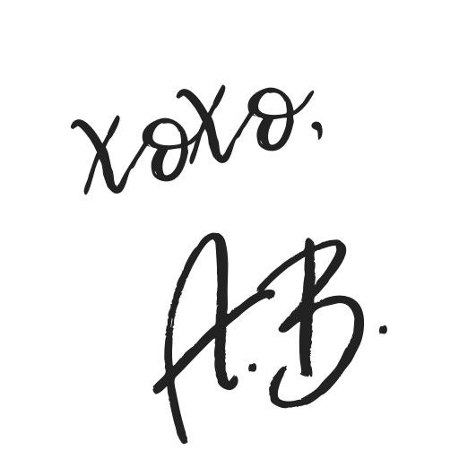 xoxo - A.B.