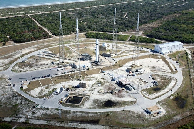 Photo of SpaceX launch site
