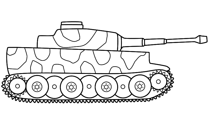 Tank #67 (Transportation) – Printable coloring pages