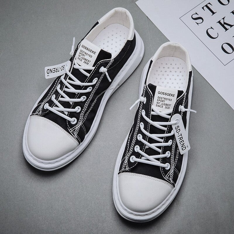 Shoes 18 Mens Casual Lace Up /& Slip On Canvas Sneaker Shoes
