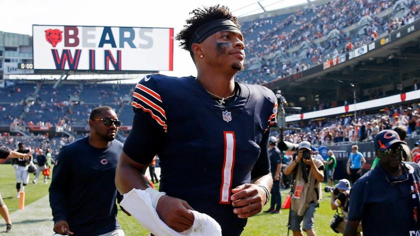 Bears' Justin Fields wasn't perfect, but did enough to remain starter | RSN