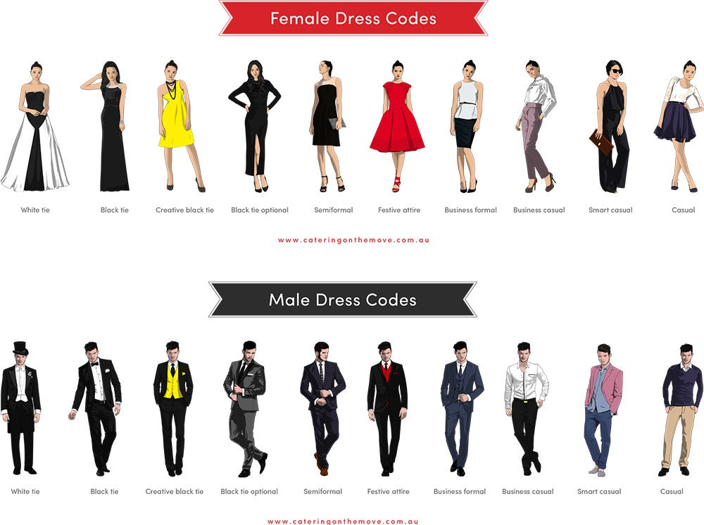 Defining Dress Codes – What to Wear for Every Occasion - Wexler Events