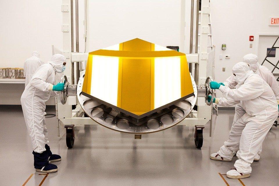Space Telescope, Telescope, Mirror, Scientists, Gold